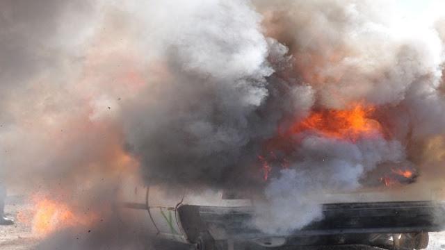 Κάηκε ολοσχερώς αυτοκίνητο στην Εθνική Οδό Αθηνών - Τριπόλεως