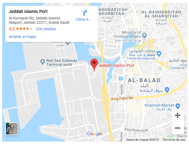 https://www.google.com/maps/place/Jeddah+Islamic+Port/@21.482863,39.168612,18z/data=!4m5!3m4!1s0x0:0xcc501982fc985fee!8m2!3d21.483846!4d39.1734293?hl=es
