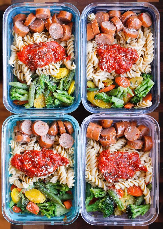 15-MINUTE CHICKEN SAUSAGE PASTA MEAL PREP BOWLS #recipes #healthymeals #quickhealthymeals #food #foodporn #healthy #yummy #instafood #foodie #delicious #dinner #breakfast #dessert #lunch #vegan #cake #eatclean #homemade #diet #healthyfood #cleaneating #foodstagram