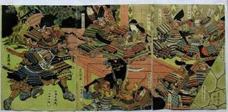 歌川豊国(堀川夜討図) 浮世絵版画販売買取ぎゃらりーおおの