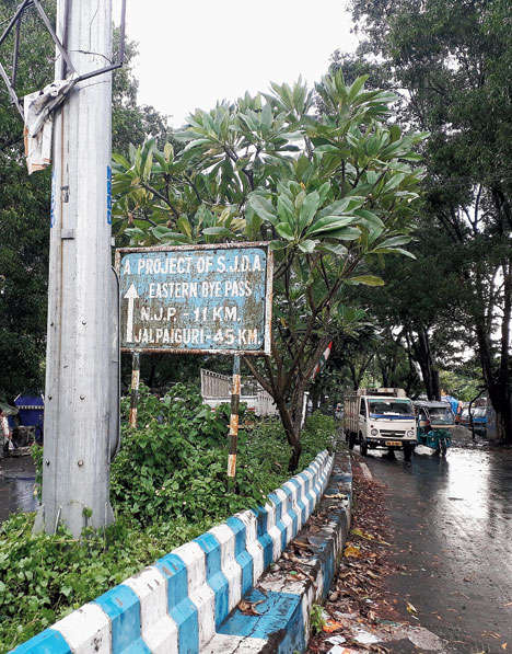 stretch of Eastern Bypass in Siliguri