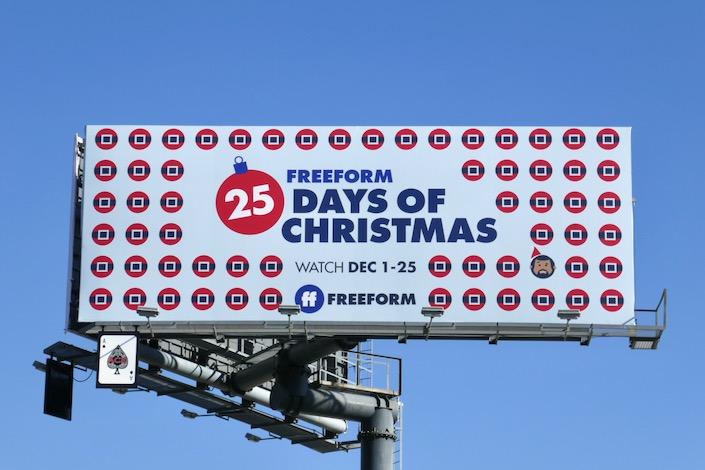 25 Days of Christmas Freeform 2019 billboard