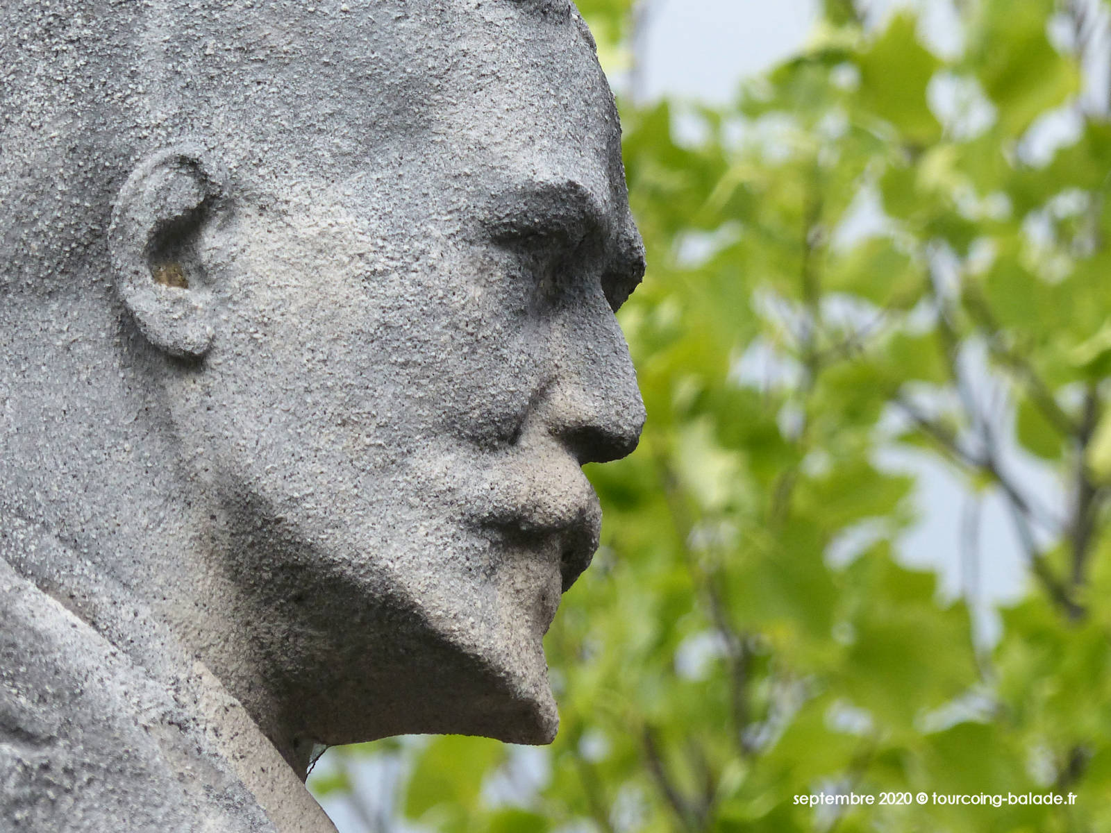 Statue Gustave Dron, Tourcoing 2020