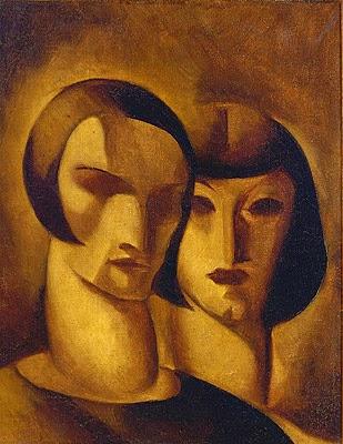 """Autorretrato com Aldagisa - Ismael Nery e suas pinturas ~ O """"Pintor Maldito"""""""