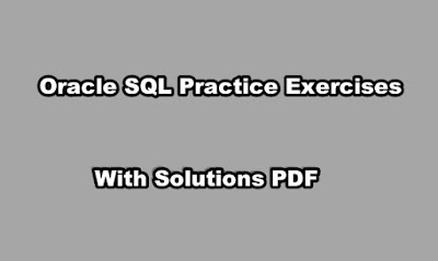 Oracle SQL Practice Exercises with Solutions PDF