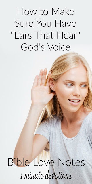 "1-minute devotion about ""spiritual hearing aids"""