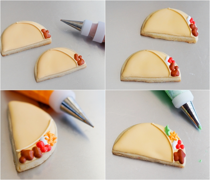 how to make and decorate taco cookies