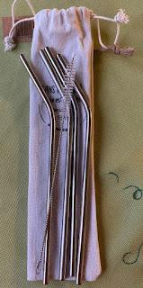 Set de pailles en inox avec son goupillon