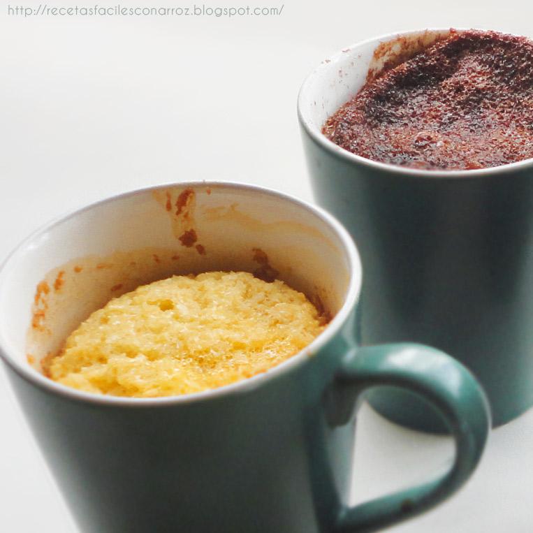 mug cake chocolate y coco