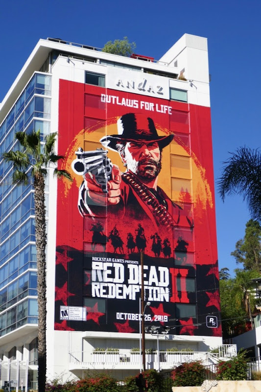 Red Dead Redemption 2 game billboard
