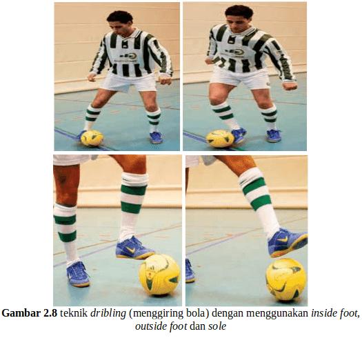 Teknik Dasar Menggiring Bola (Dribbling) Futsal