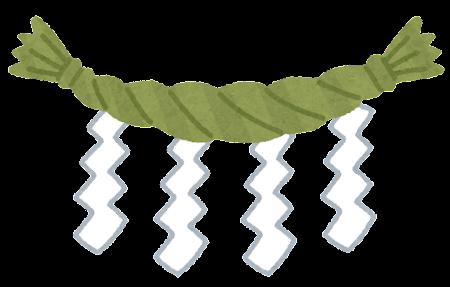 しめ縄のイラスト(紙垂つき)
