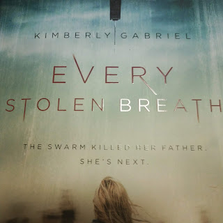 a girl looks at the chicago skyline through fog on the cover of Every Stolen Breath by Kimberly Gabriel