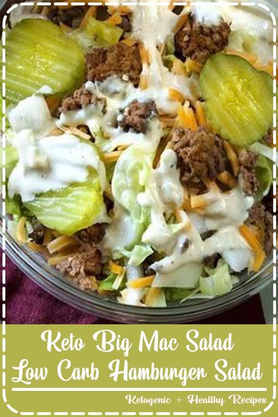 Definitely making the sauce for burgers Keto Big Mac Salad | Low Carb Hamburger Salad