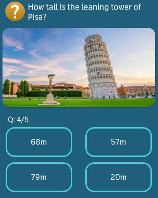 How tall is the leaning tower of Pisa?