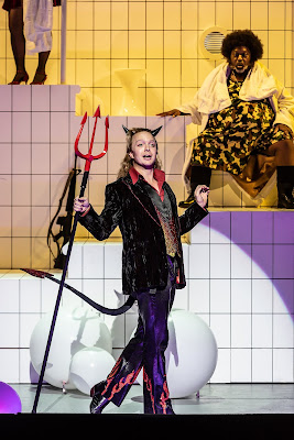 Offenbach: Orpheus in the Underworld - Alex Otterburn, Keel Watson - English National Opera 2019 (Photo Clive Barda)