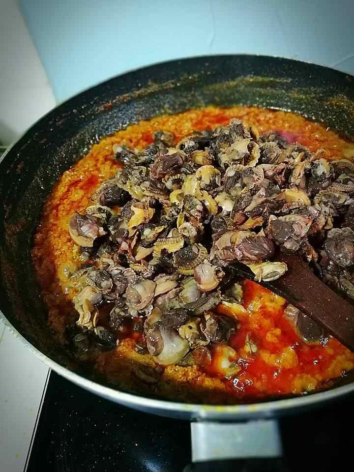 Resepi kerang rendang cili padi paling sedap