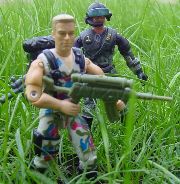 1995 Night Fighter Guile, Street Fighter, 2005 Convention Exclusive Gung Ho, Steel Brigade, Mega Marines