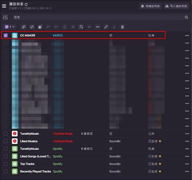 Soundiiz:輕鬆愉快的在不同的音樂服務平台之間傳送、轉移播放清單