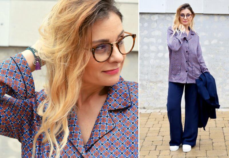 Blau-kombinieren-Bluse-Muster