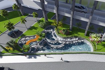 Jasa design landscape taman hotel kantor mediterania