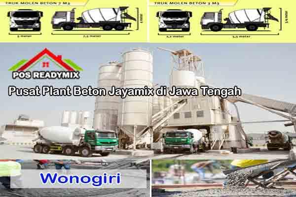 Harga Cor Beton Jayamix Wonogiri Per m3 Terbaru 2021