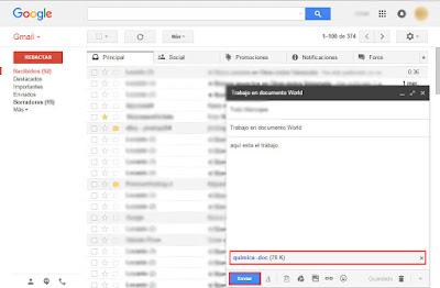 enviar un trabajo por mi correo gmail tutorial