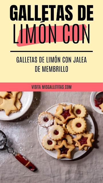 galletas de limón con jalea de membrillo