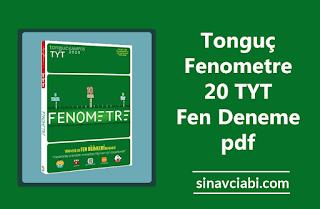 Tonguç Fenometre 20 TYT Fen Deneme pdf