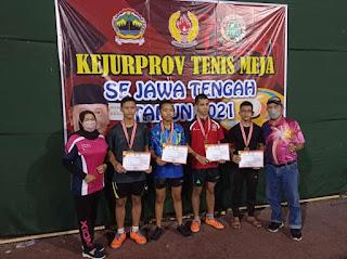 Atlit Tenis Meja Dikejurnas Provinsi, Raih Emas, Perak & Perunggi