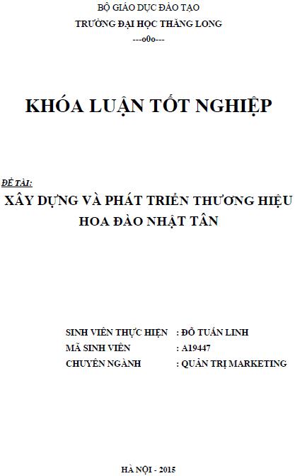 Xây dựng và phát triển thương hiệu Hoa đào Nhật Tân