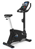 Nautilus MY18 U616 Upright Exercise Bike, review features compared with U618, with 25 ECB resistance levels & 29 workout programs