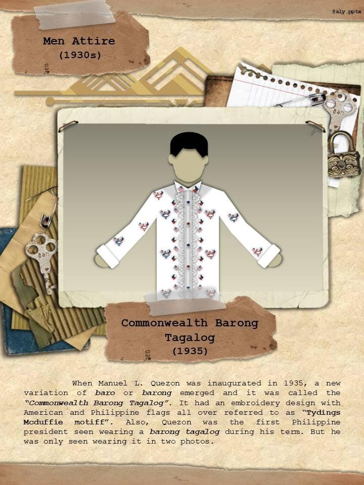 The Commonwealth Barong Tagalog