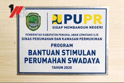 Nomor rumah Kementrian PUPR