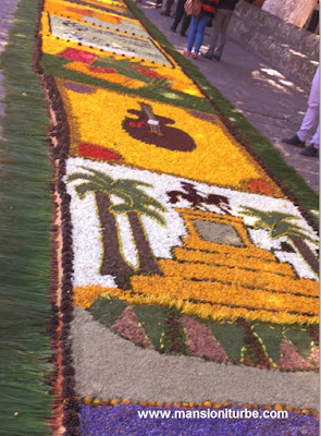 Floral Rugs of Patamban in Morelia, Michoacan