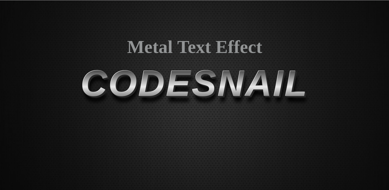 metal text effect using css, css effect, text effect using css, css