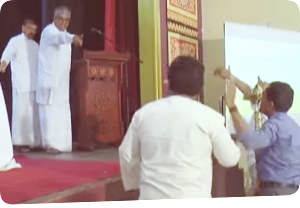 "Pandemonium in All Ceylon Buddhist Congress  ""Who's this who's shouting like 'sakkilis?"""