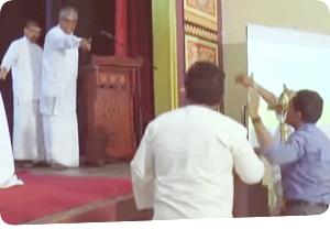 "Pandemonium in All Ceylon Buddhist Congress  ""Who's this who's shouting like 'sakkilis?"""