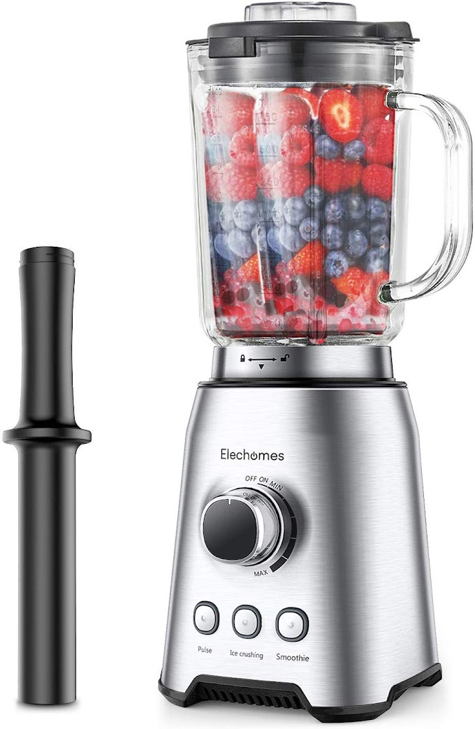 40% off ELECHOMES Countertop Blender with 64 Oz Glass BPA-Free Pitcher