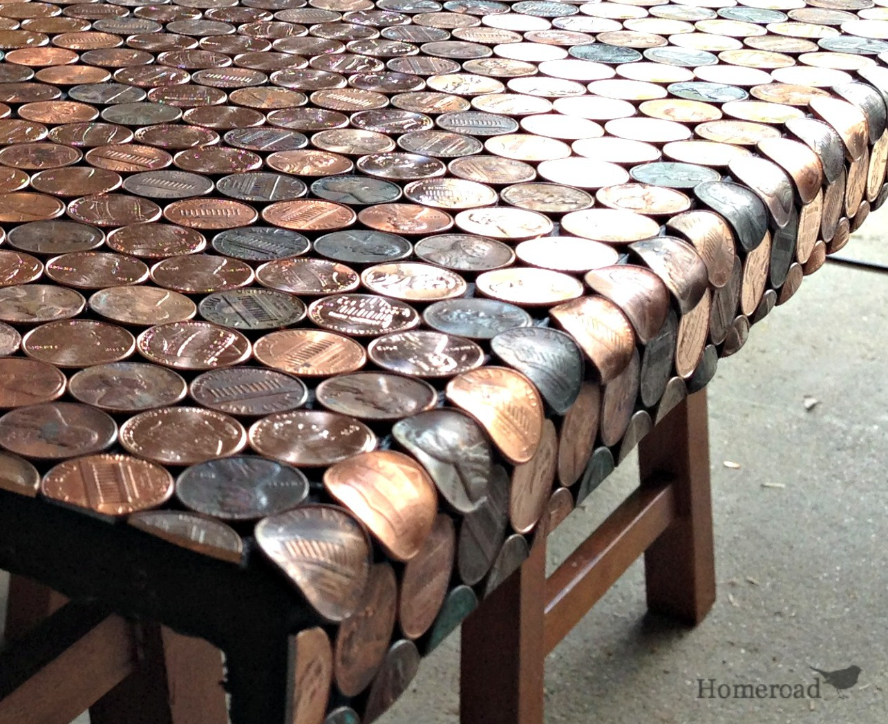 How To Make A Desk Using Pennies Homeroad