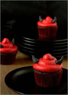 Chocolate devil cupcak