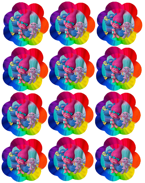 Trolls Free Printable Cupcake Toppers Or Labels