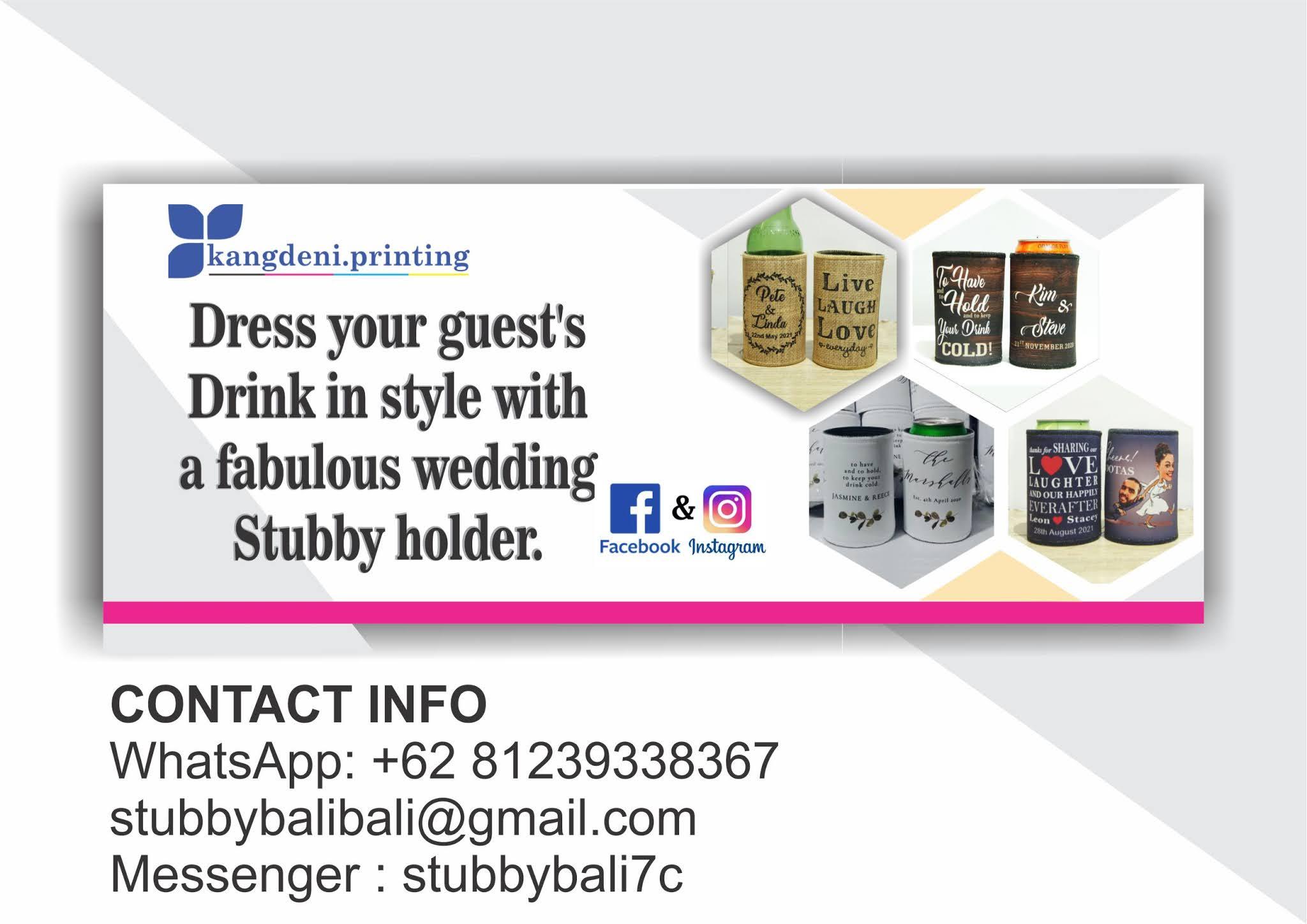 Stubby Holders Australia Bali Kang Deni Printing