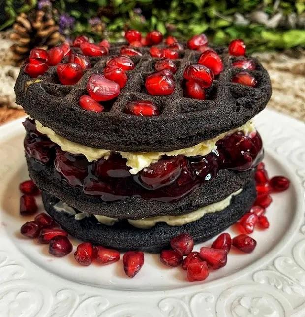 Black Forest Waffle Cake