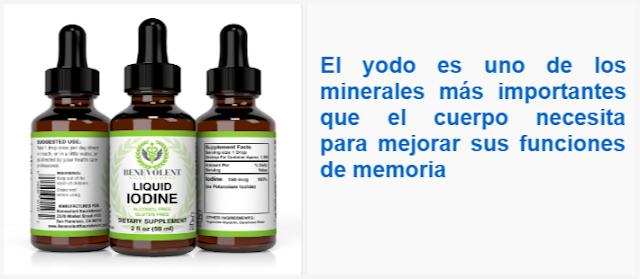 El yodo es uno de los minerales más importantes que el cuerpo necesita para mejorar sus funciones de memoria
