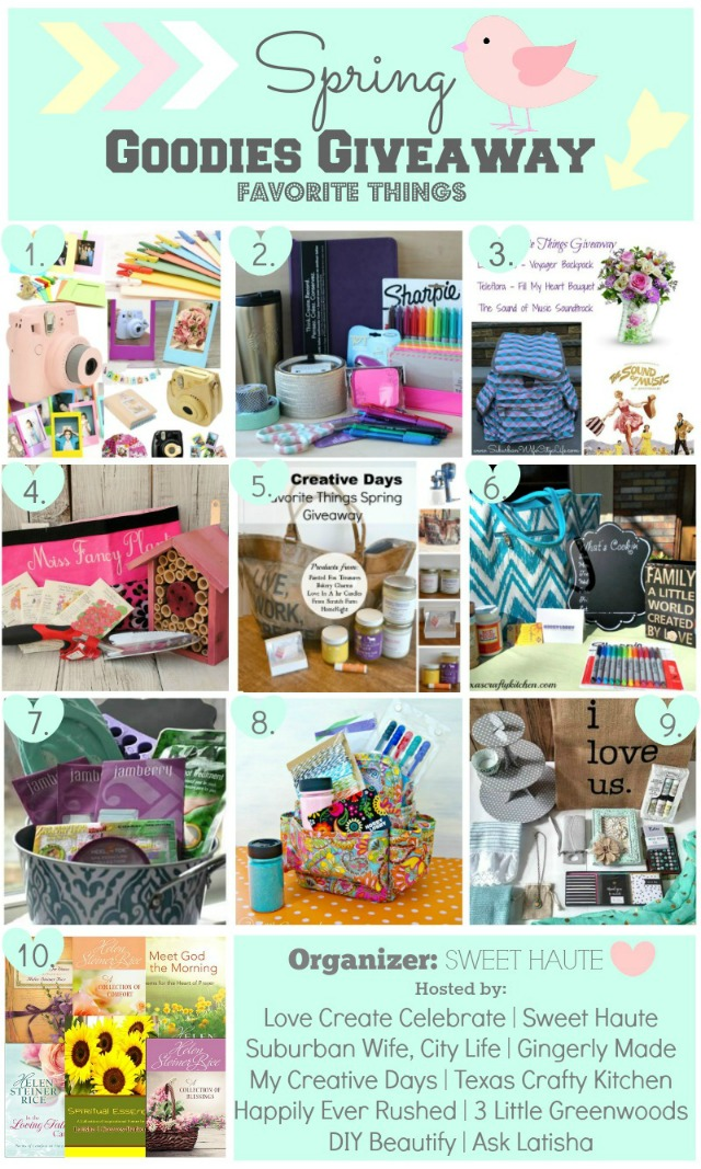 http://sweethaute.blogspot.com/2015/03/goodies-giveaway-spring-favorite-things.html