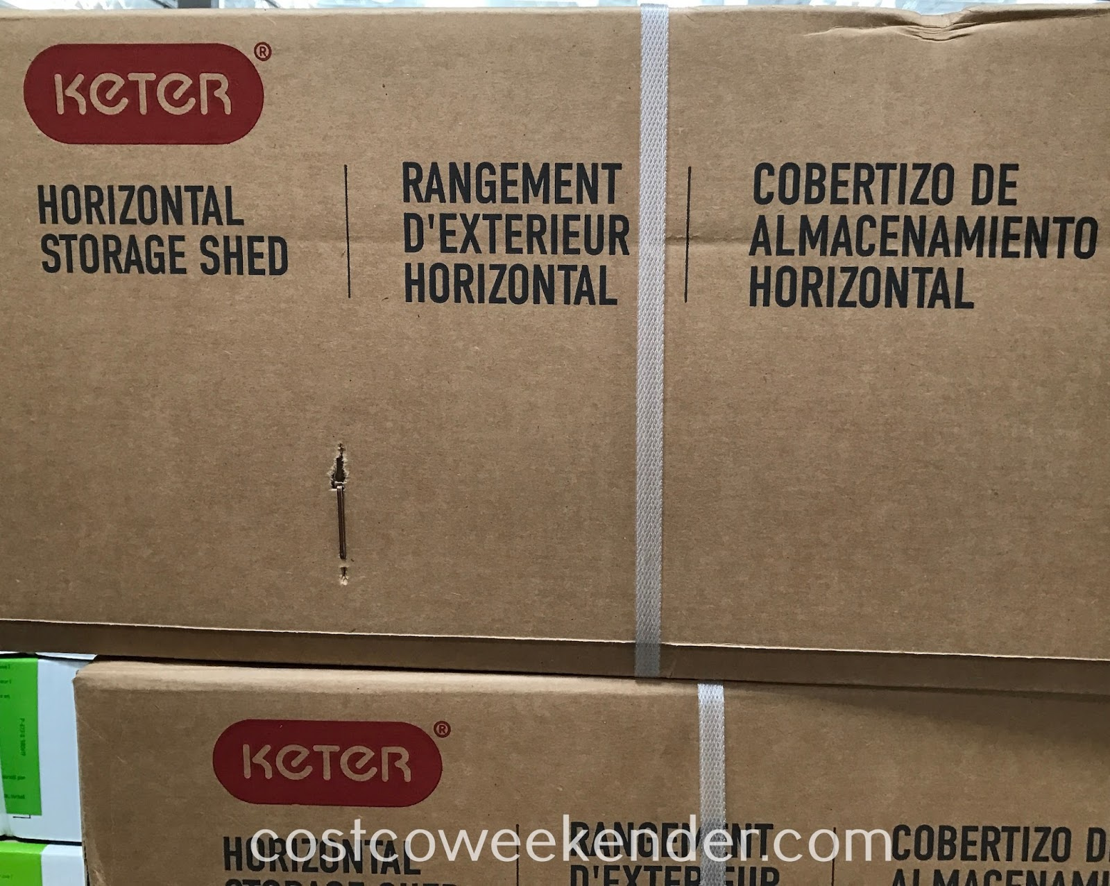 Costco 1031617 - Keter Horizontal Resin Storage Shed: Quick and easy way to add storage to any home
