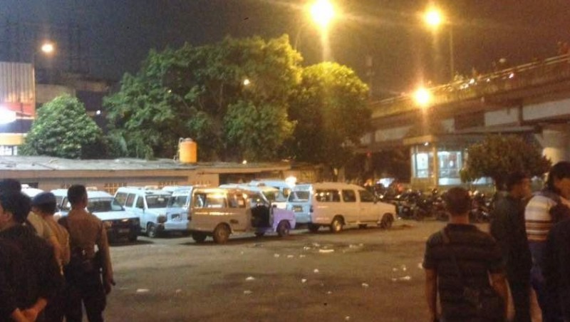 Kondisi terminal Kampung Melayu pasca ledakan