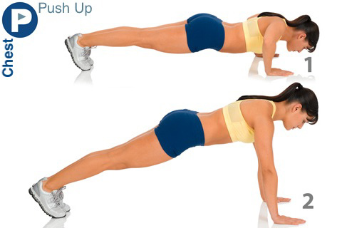 Hand Push ups to Lose Arm Fat