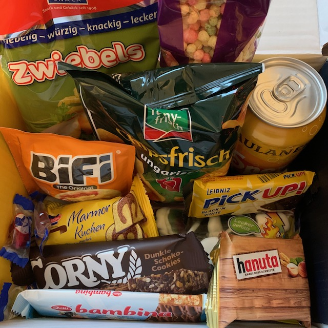 Snack Surprise box, with contents from Germany